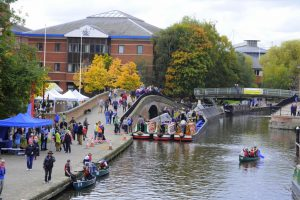 Boats at the 2015 Nottingham Canal Festival